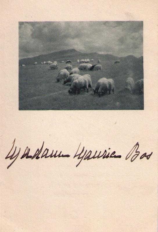 Bos Escribe -  Menu Mariage - 1 -  1935
