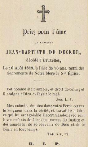 1849 Ex-voto Jean-Baptiste de Decker